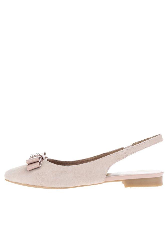 Pantofi slingback roz din piele întoarsă Tamaris
