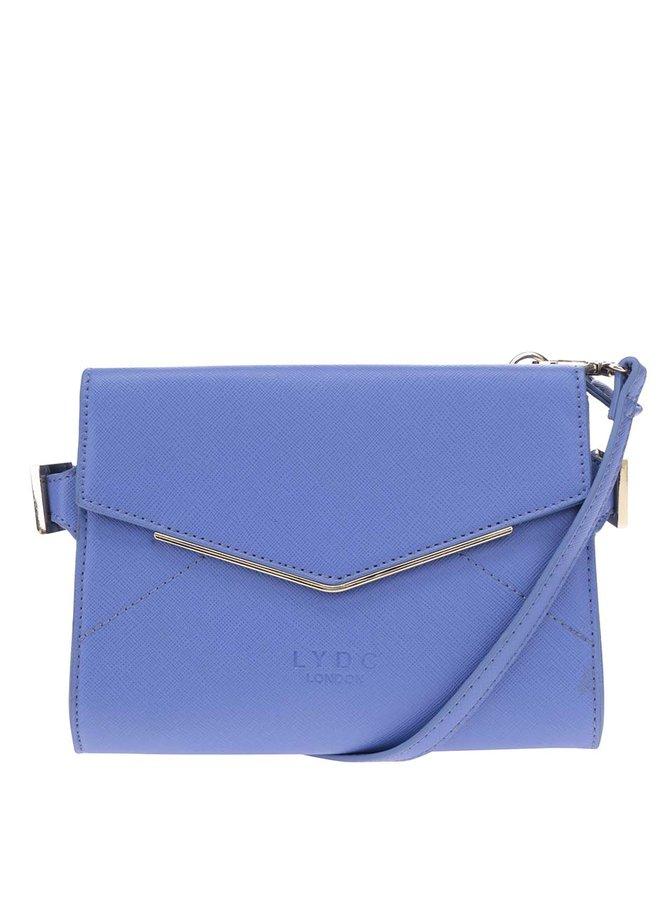 Modrá crossbody kabelka s detaily ve zlaté barvě LYDC