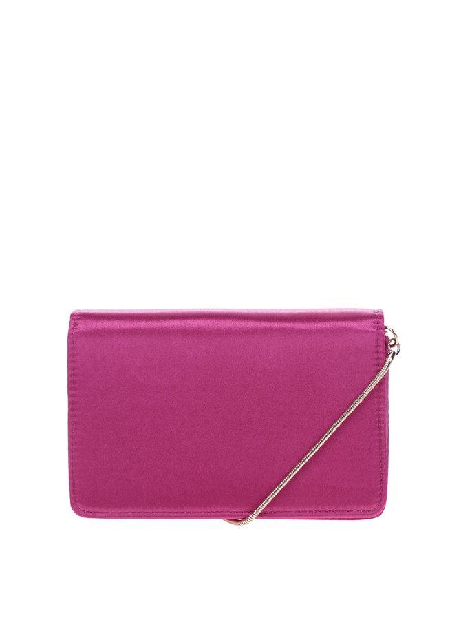 Tmavě růžová crossbody kabelka/psaníčko Miss Selfridge