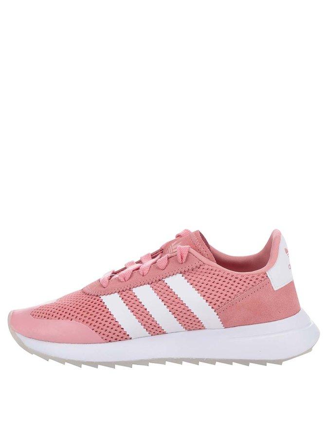 Krémovo-růžové dámské tenisky s koženými detaily adidas Originals