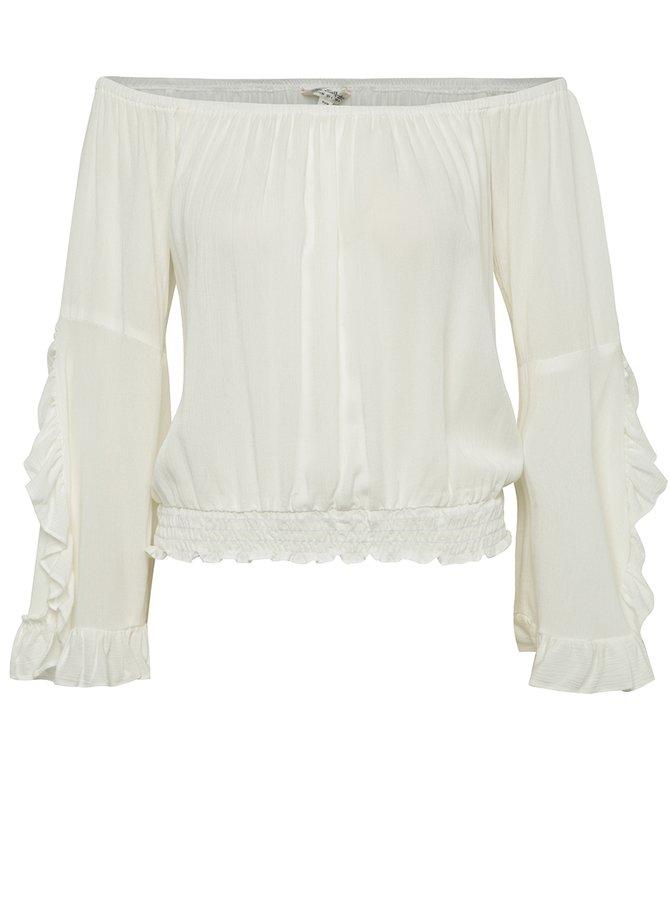 Bluză crem Miss Selfridge cu decolteu pe umeri