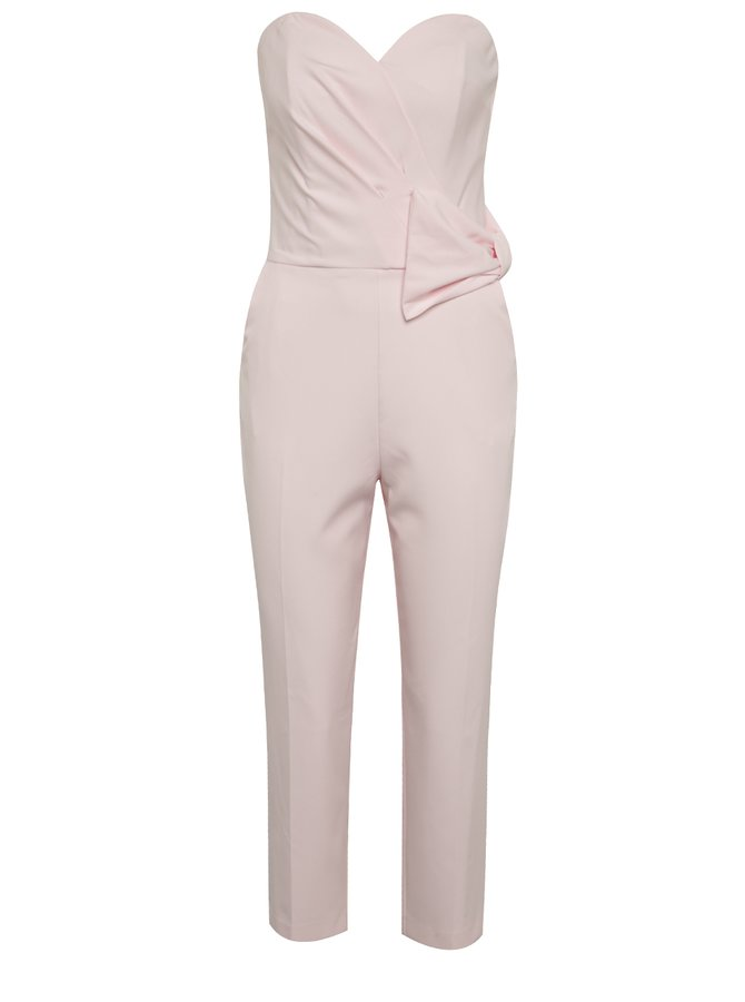 Salopetă roz pal Miss Selfridge fără bretele