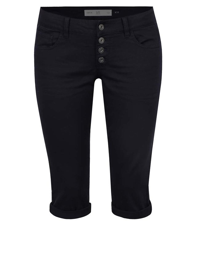 Pantaloni 3/4 slim fit bleumarin QS by s.Oliver pentru femei