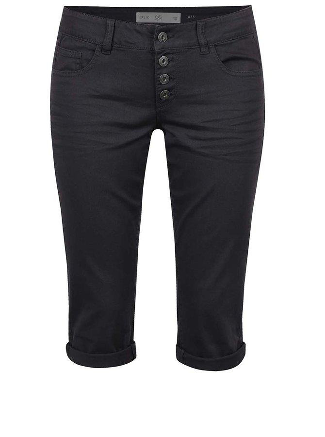 Pantaloni 3/4 slim fit gri închis QS by s.Oliver pentru femei