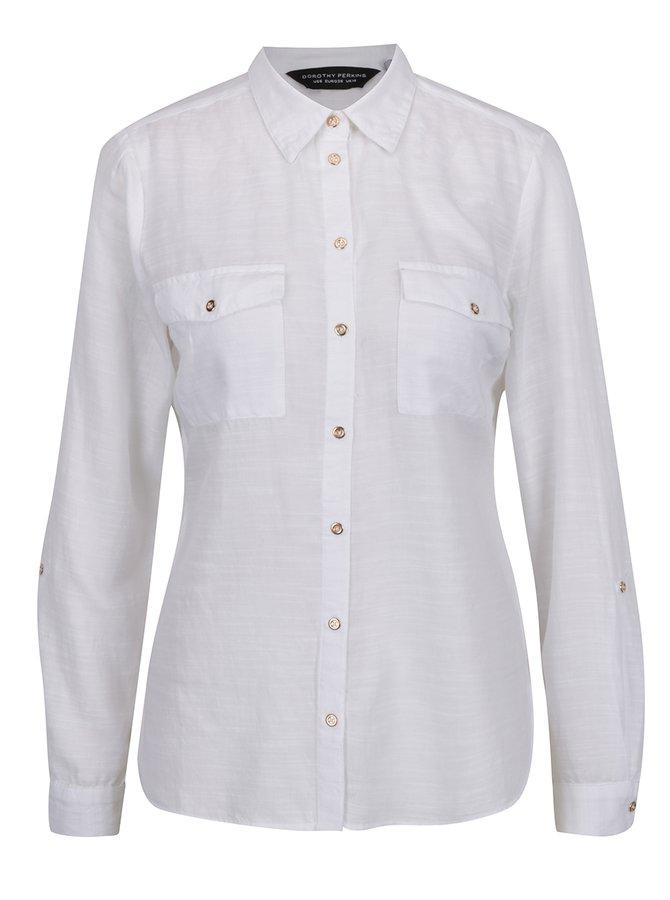 78b2829d0ae Krémová žíhaná košile s kapsami Dorothy Perkins