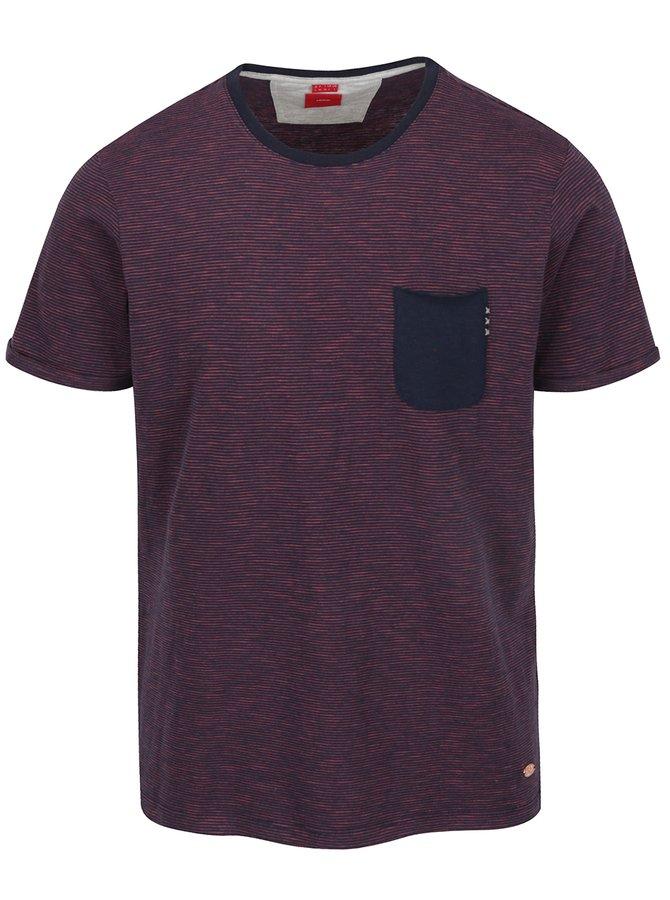 Tricou bleumarin în dungi s.Oliver cu buzunar pentru bărbați