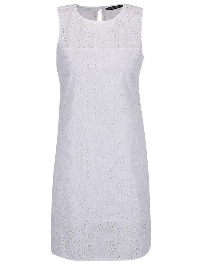 Rochie albă Dorothy Perkins cu model cu perforații