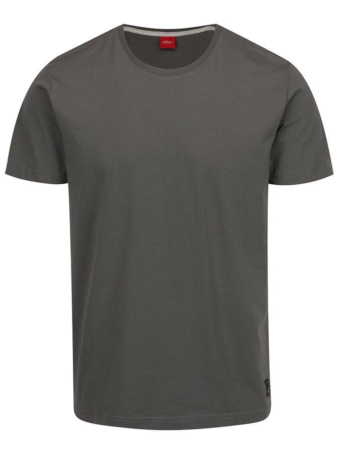 Šedé pánské basic triko s krátkým rukávem s.Oliver