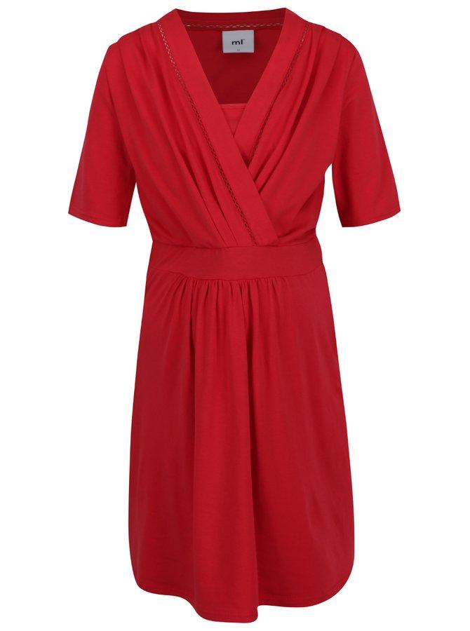 Červené těhotenské/kojicí šaty Mama.licious Milo