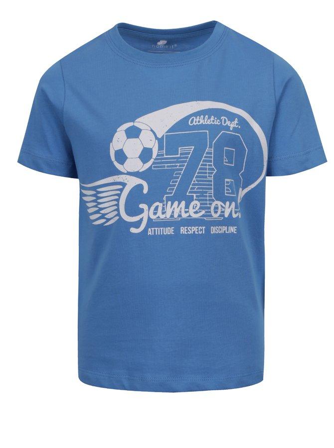 Tricou albastru cu print name it Vuxhux