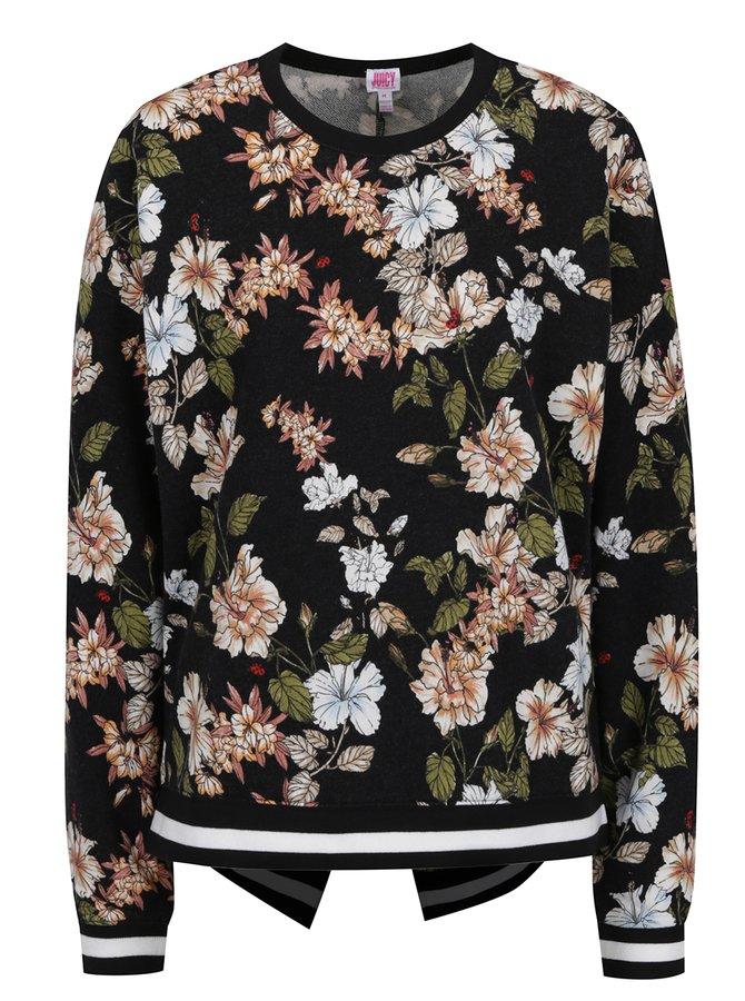 Bluză neagră Juicy Couture cu imprimeu floral