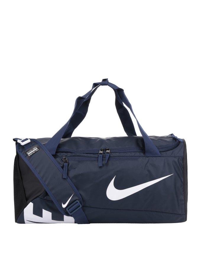 Geantă sport bleumarin impermeabilă cu logo Nike 52 l
