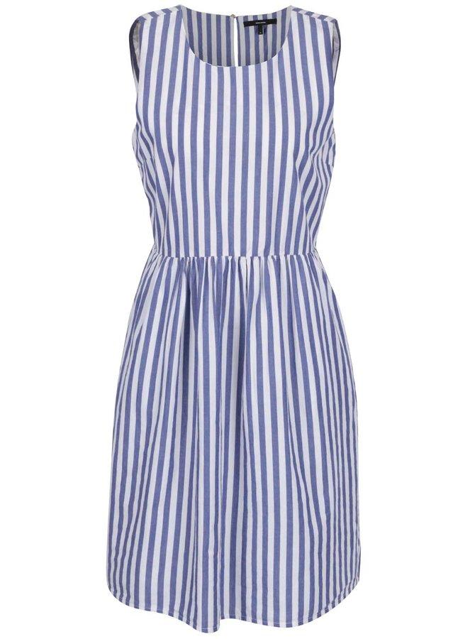 Modro-bílé pruhované šaty VERO MODA Candice