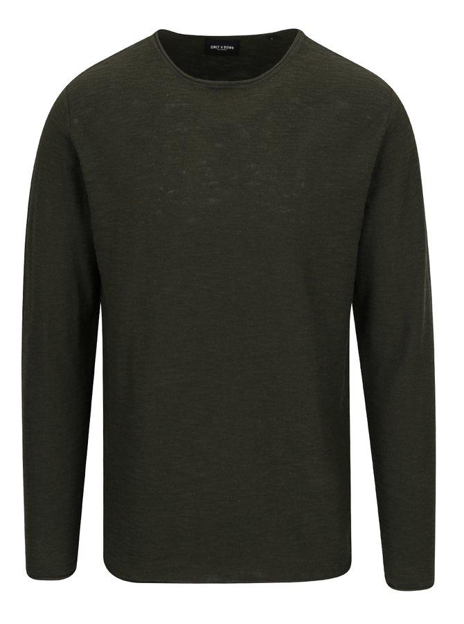 Khaki lehký svetr ONLY & SONS Enter