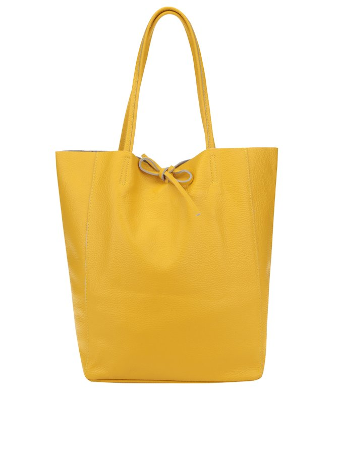 Geantă shopper galbenă din piele ZOOT Simple