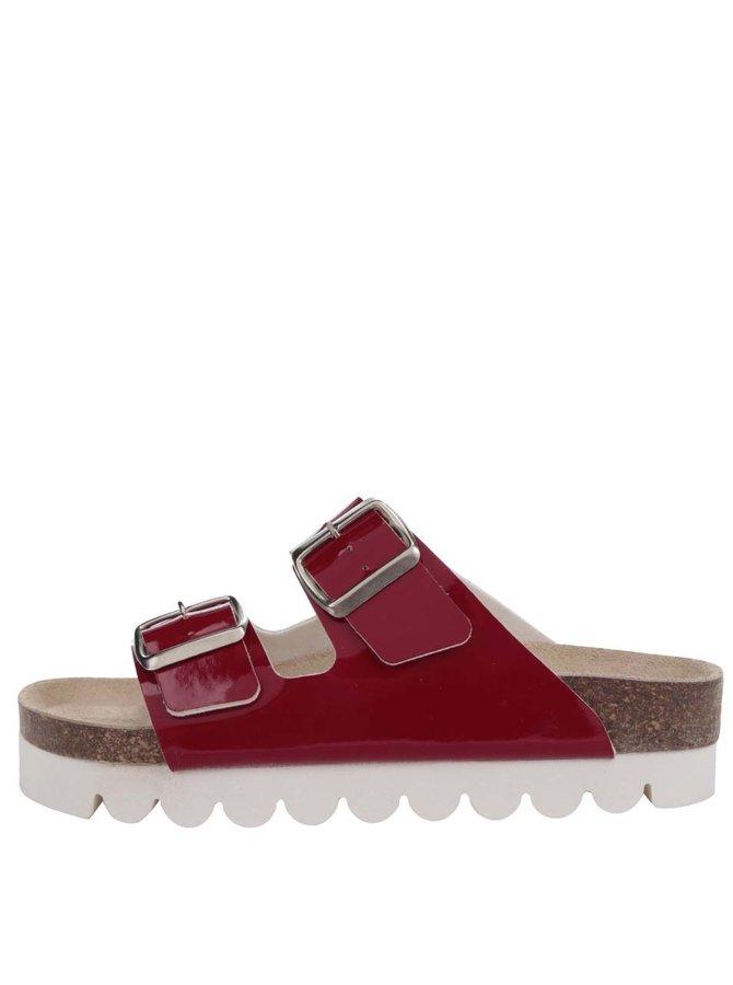 Červené lesklé dámské pantofle Snaha Lima 160