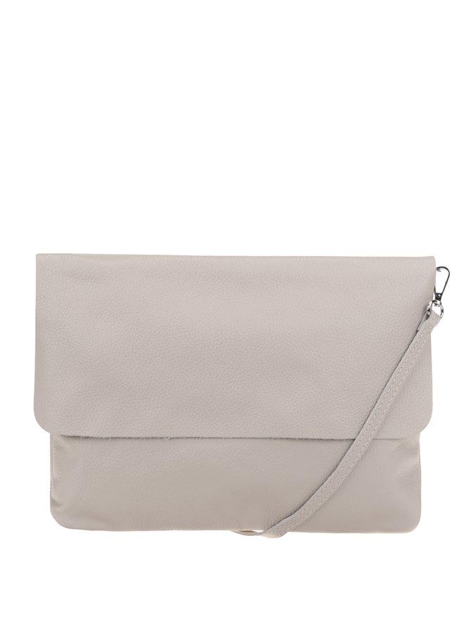 Krémová kožená crossbody kabelka/ psaníčko ZOOT Simple