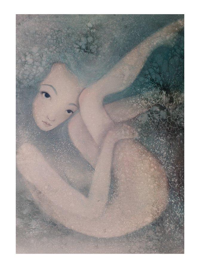 Poster Adancime, in nuante de crem si gri, Lena Brauner, 50 x 70 cm