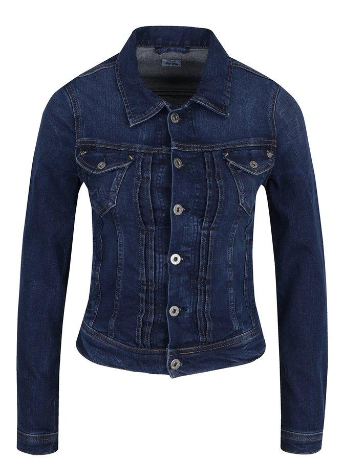 Jachetă albastru închis Pepe Jeans Mikas din denim