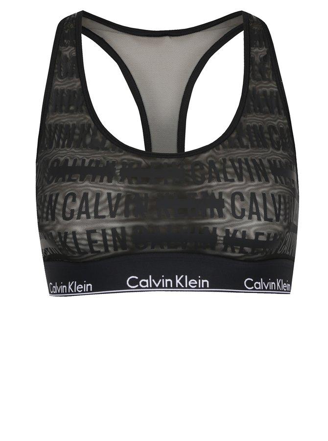 Bustiera neagra cu logo Calvin Klein