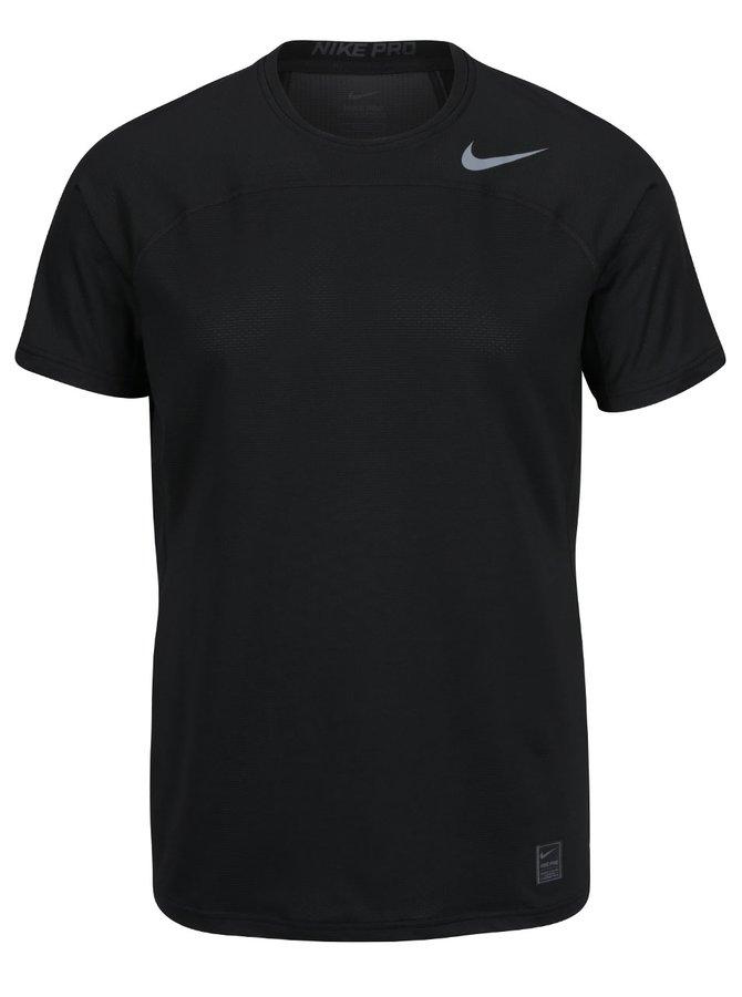Černé pánské funkční triko s logem Nike