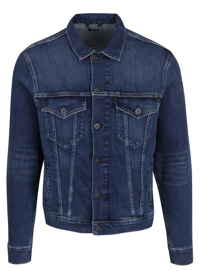 Jachetă albastru închis Pepe Jeans Pinner din denim