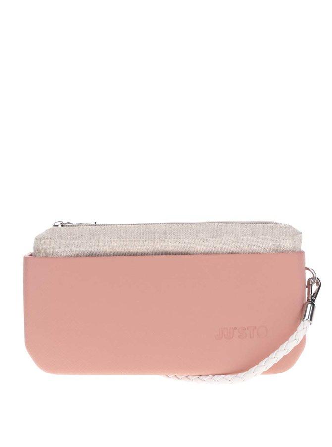 Růžové psaníčko/crossbody kabelka Ju'sto J-Posh