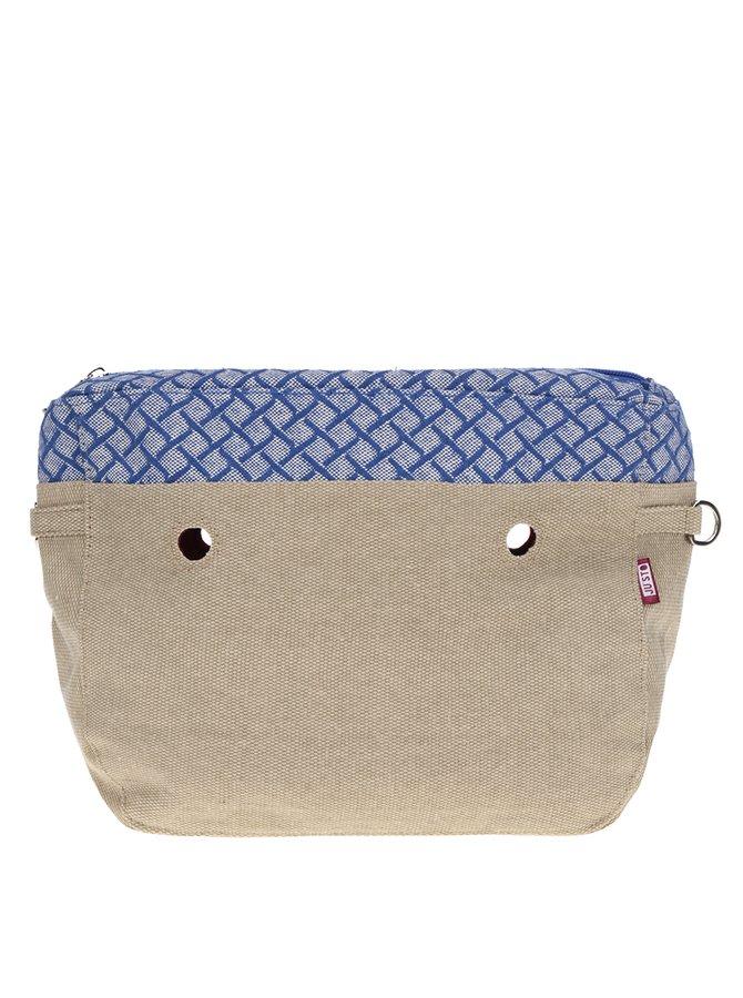 Béžová vnitřní taška s modrým vzorem Ju'sto J-Tiny