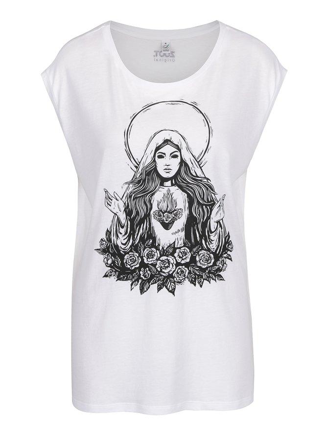 Bílé dámské tričko ZOOT Originál Panna Marie