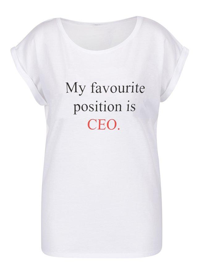 Bílé dámské volné tričko ZOOT Originál My favourite position