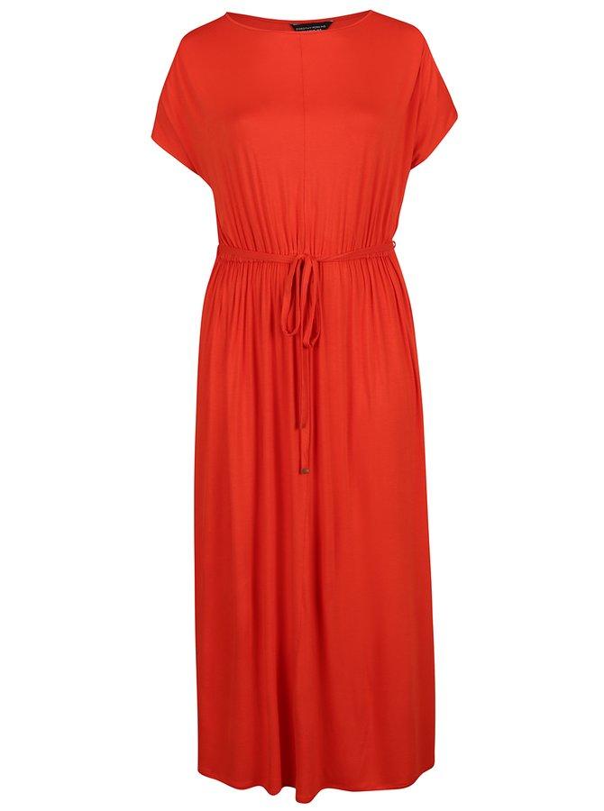 Rochie maxi roșie Dorothy Perkins Curve cu șnur în talie