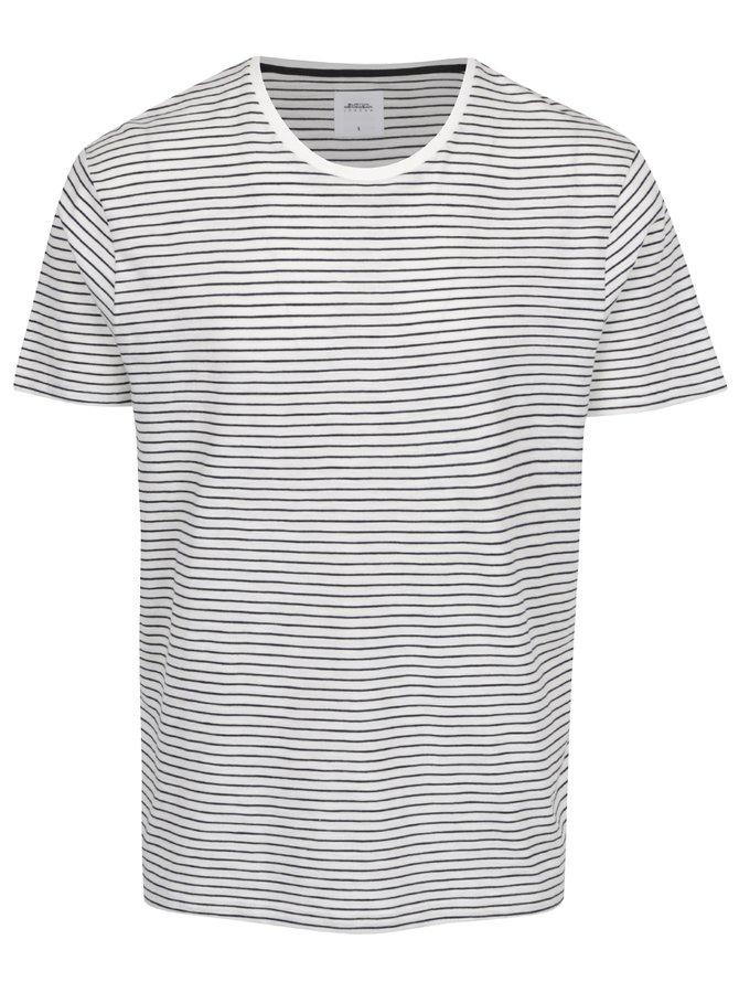 Tricou cu dungi alb/negru Burton Meanswear London