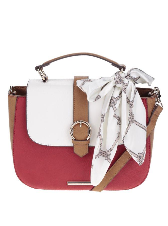 Hnědo-červená crossbody kabelka s mašlí Dorothy Perkins