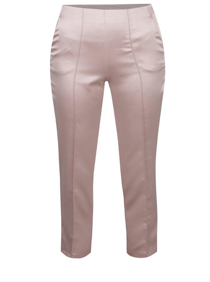 Růžové zkrácené kalhoty Miss Selfridge