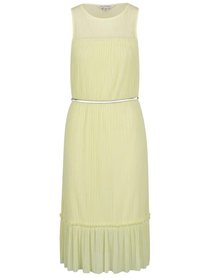 Rochie galbenă plisată cu cordon metalic Miss Selfridge