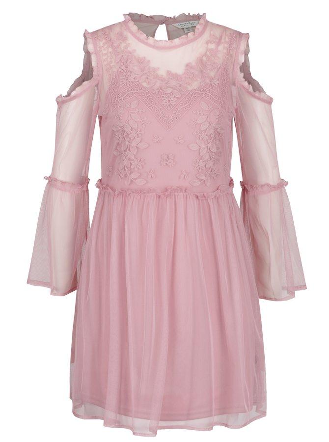 Rochie roz cu decupaj pe umeri Miss Selfridge