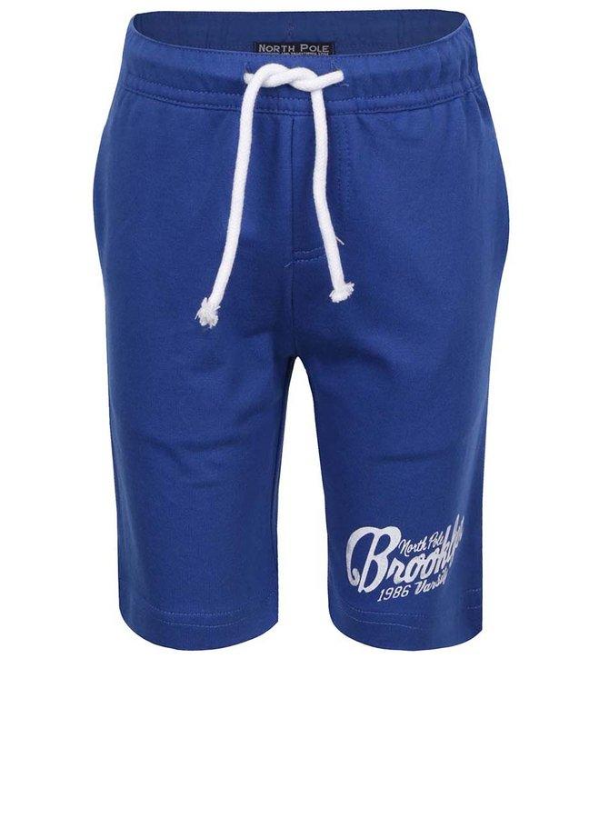 Pantaloni scurți sport albaștri North Pole Kids din bumbac cu print