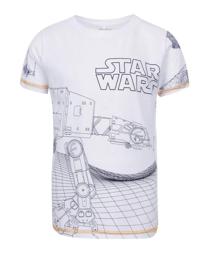 Bílé klučičí triko s potiskem name it Star wars