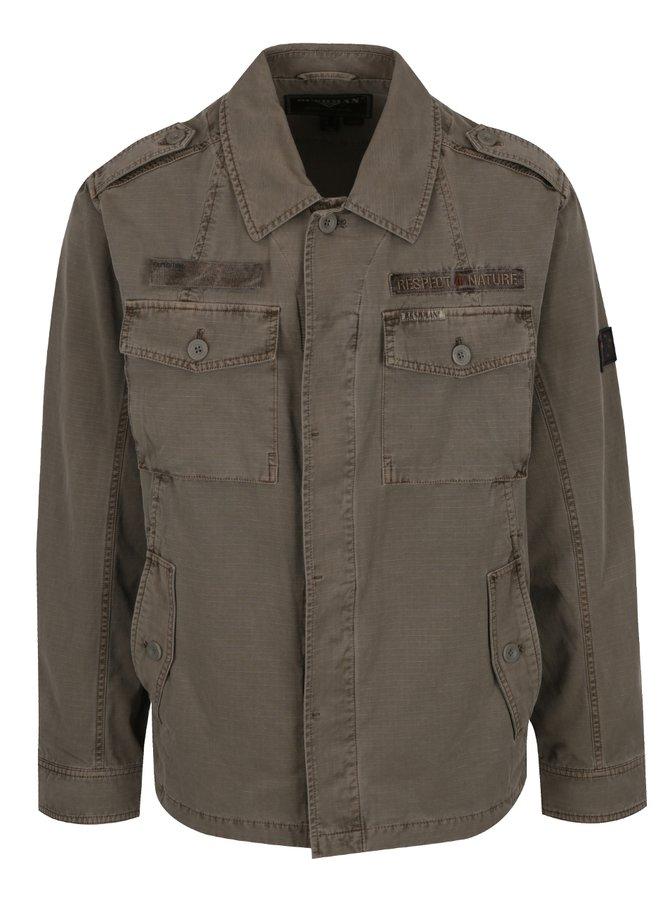 Jachetă kaki cu aspect decolorat BUSHMAN Detroit