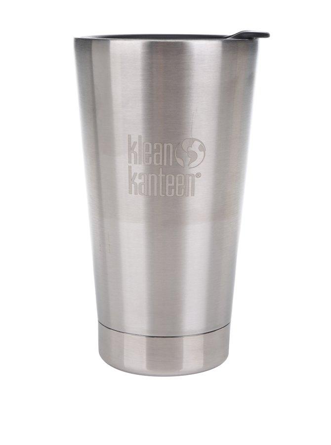 Cană termos argintie Klean Kanteen Insulated Tumbler 473 ml