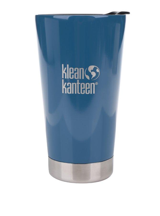 Pahar termos albastru & negru  Klean Kanteen Insulated Tumbler 473 ml
