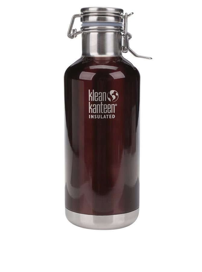 Hnědá nerezová termo lahev Klean Kanteen Insulated Growler 946 ml