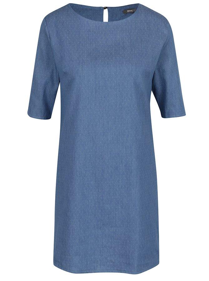 Rochie scurtă albastră din denim cu buline ZOOT