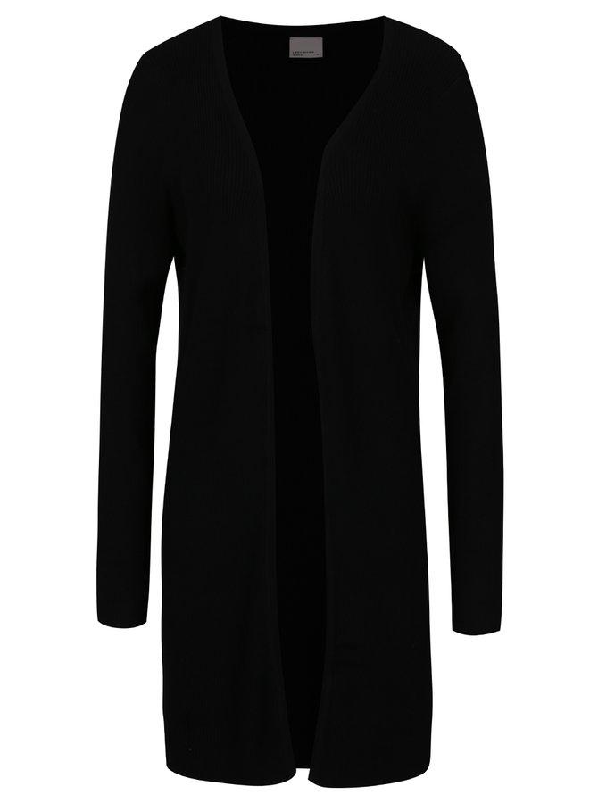 Černý žebrovaný cardigan VERO MODA Glory