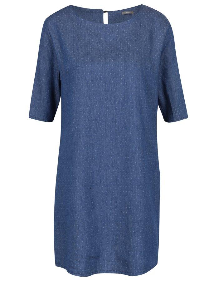Rochie albastru închis din denim cu buline ZOOT