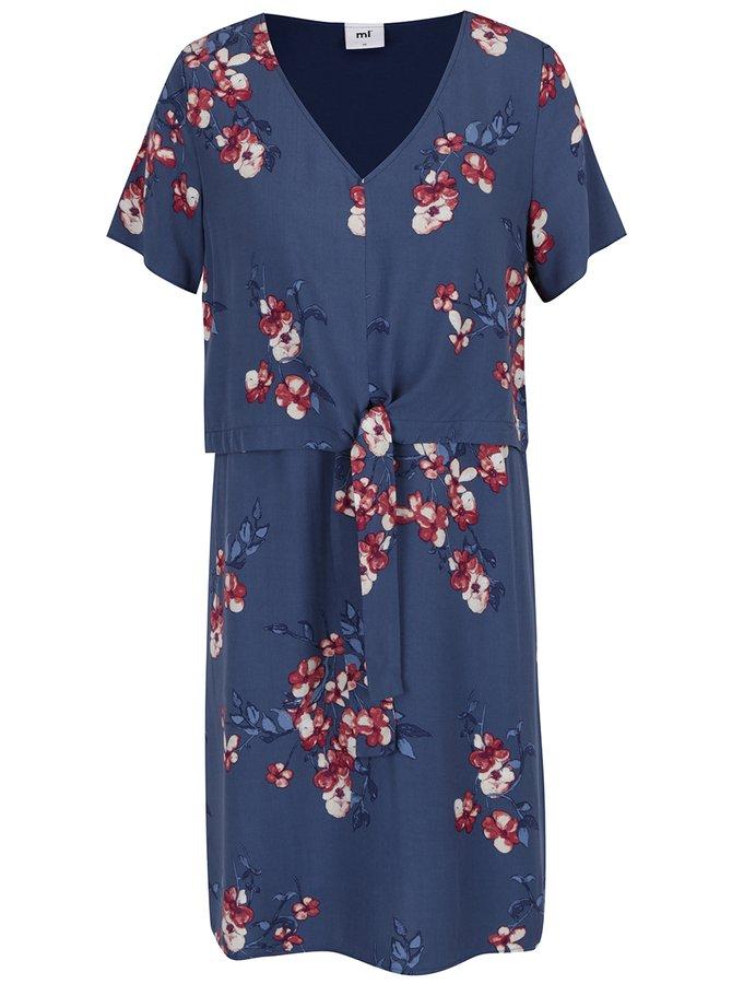 Tmavě modré květované těhotenské/kojící šaty Mama.licious Fusion