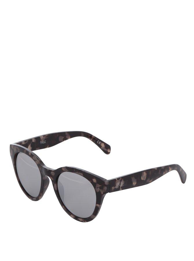 Tmavě šedé dámské vzorované sluneční brýle Nalí