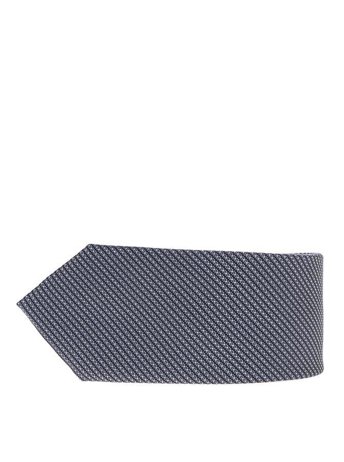 Modrá hedvábná vzorovaná kravata Jack & Jones Premium Salvador