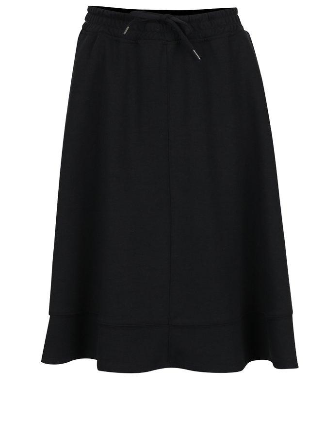 Čierna áčková sukňa s pružným pásom Selected Femme Lou