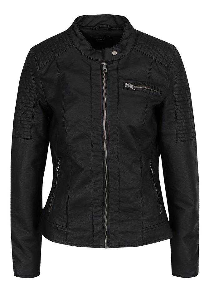 Černá koženková bunda ONLY Ready